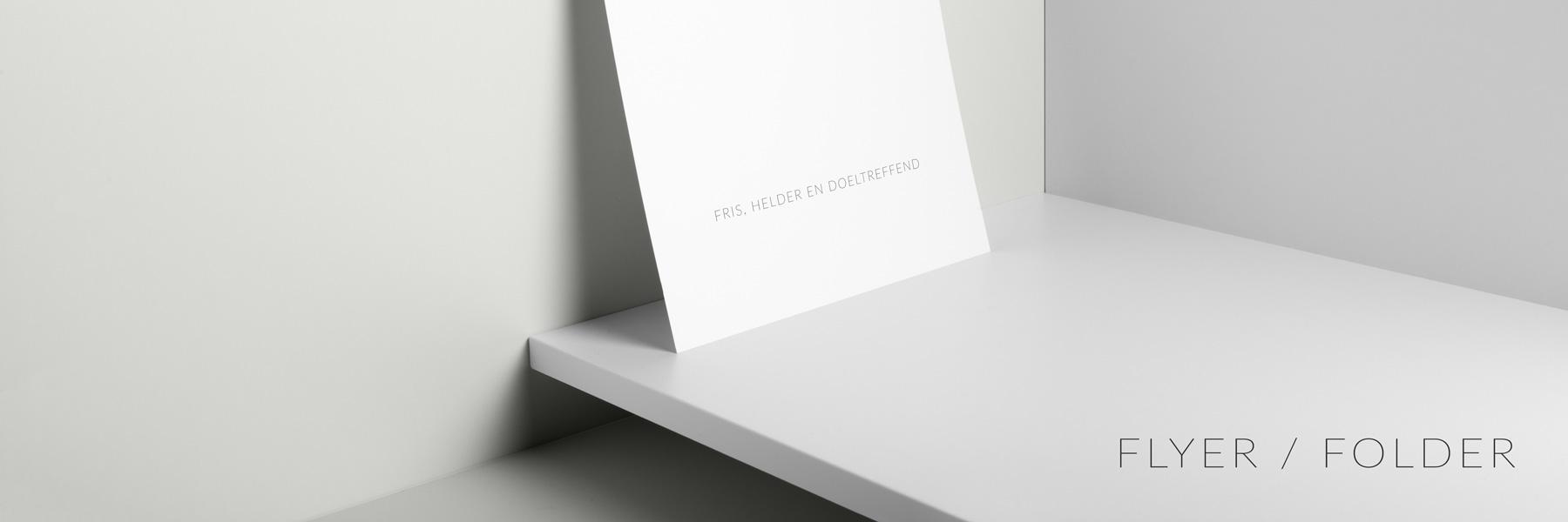 Grafisch zakelijk - design flyer, folder - fris, helder en doeltreffend